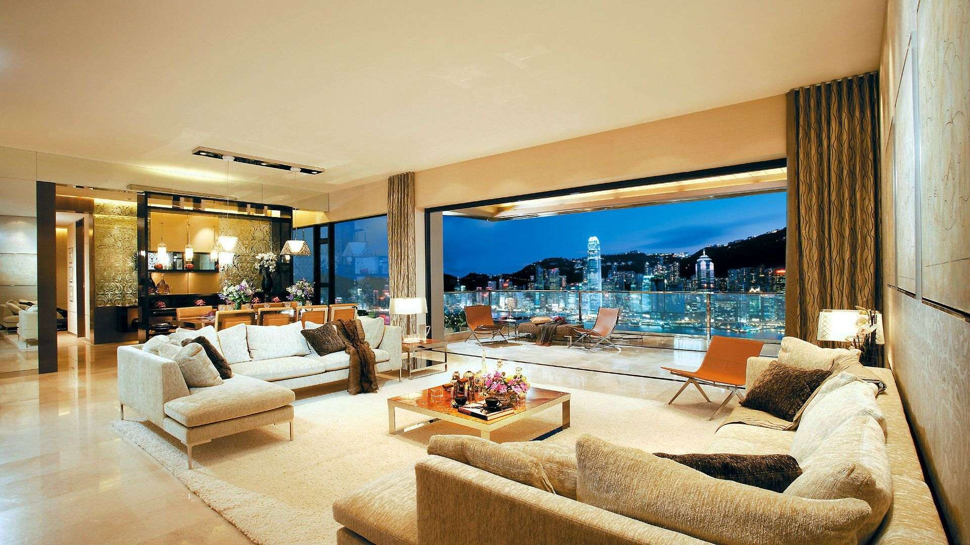 Luxurious Living Room With Quite The View